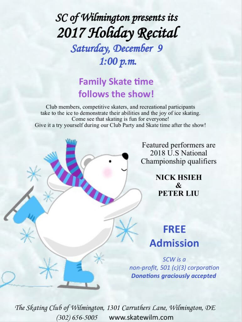 Christmas Recital @ The Skating Club of Wilmington | Wilmington | Delaware | United States